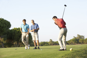 golfing with a group